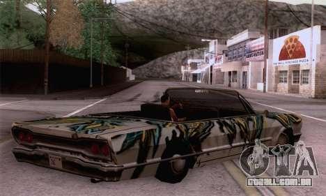 O trabalho de pintura para a savana para GTA San Andreas esquerda vista