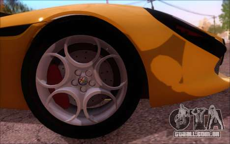 Alfa Romeo TZ3 2011 para GTA San Andreas vista interior