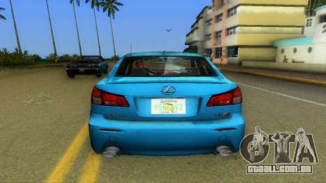 Lexus IS-F para GTA Vice City vista traseira