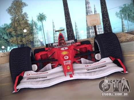 Ferrari F1 2005 para GTA San Andreas vista interior