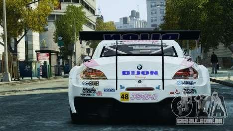 BMW Z4 GT3 2010 para GTA 4 rodas