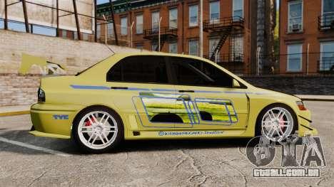 Mitsubishi Lancer Evolution IX 2006 tuning 2f2f para GTA 4 esquerda vista