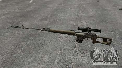 Dragunov sniper rifle v2 para GTA 4 terceira tela
