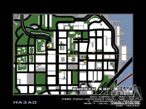 Novo capô e ícones no mapa para GTA San Andreas terceira tela