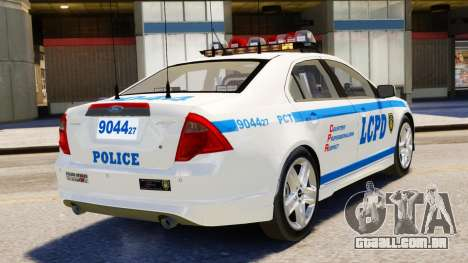 Ford Fusion LCPD 2011 [ELS] para GTA 4 esquerda vista