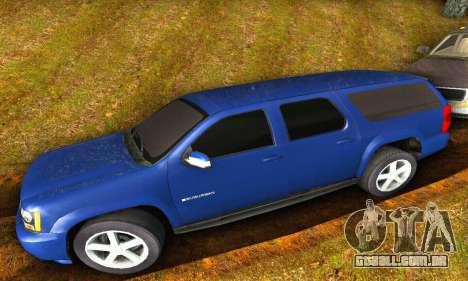 Chevrolet Suburban 2008 para GTA San Andreas traseira esquerda vista