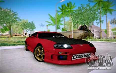 Toyota Supra RZ 1998 Drift para GTA San Andreas esquerda vista
