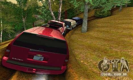 Chevrolet Suburban 2008 para GTA San Andreas vista traseira