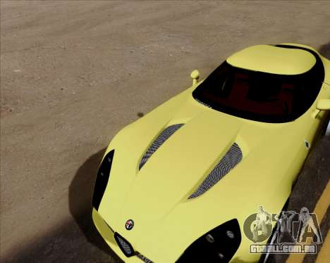 Alfa Romeo TZ3 2011 para GTA San Andreas vista superior