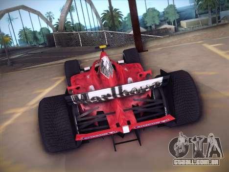 Ferrari F1 2005 para GTA San Andreas vista traseira