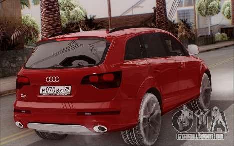 Audi Q7 Winter para GTA San Andreas esquerda vista