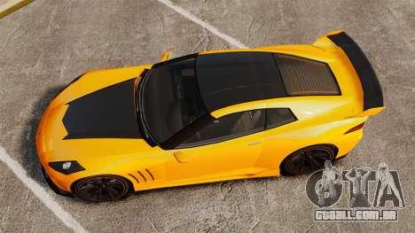 GTA V Inuetero Coquette Hardtop DTD para GTA 4 vista direita