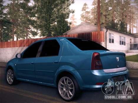 Dacia Logan GrayEdit para GTA San Andreas esquerda vista