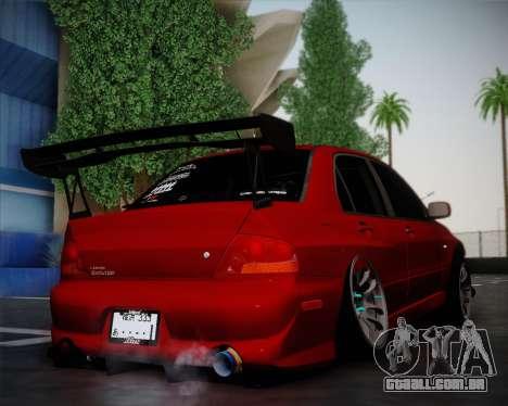 Mitsubishi Evolution VIII para GTA San Andreas traseira esquerda vista