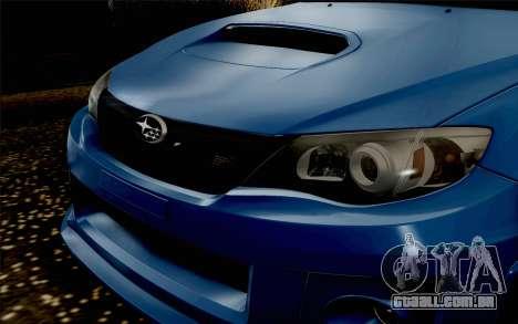 Subaru Impreza WRX STi 2011 para GTA San Andreas vista direita