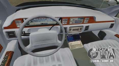Chevrolet Caprice Police 1991 v2.0 N.o.o.s.e para GTA 4 vista lateral