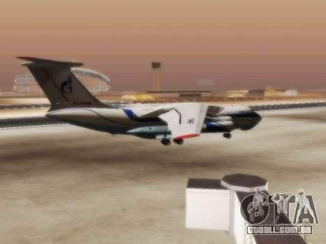 Il-76td Gazpromavia para GTA San Andreas vista direita