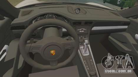 Porsche 911 Turbo 2014 [EPM] TechArt Design para GTA 4 vista de volta