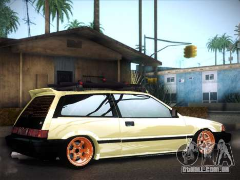 Honda Civic Si 1986 para GTA San Andreas vista superior