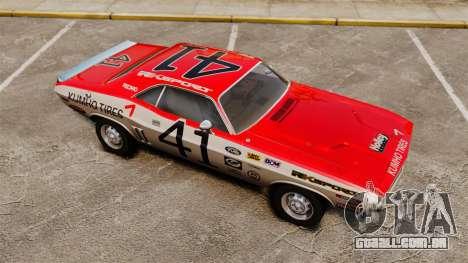Dodge Challenger 1971 v1 para GTA 4 vista inferior