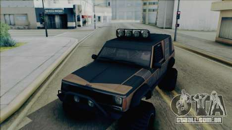 Jeep Cherokee 1984 Sandking para GTA San Andreas vista interior