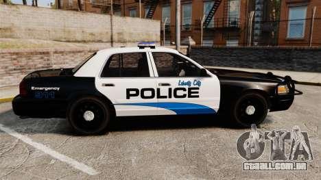 Ford Crown Victoria Police Interceptor [ELS] para GTA 4 esquerda vista