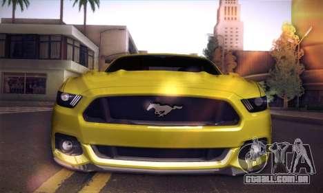 Ford Mustang 2015 Swag para GTA San Andreas vista traseira