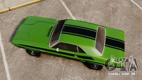 Dodge Challenger 1971 v2 para GTA 4 vista direita