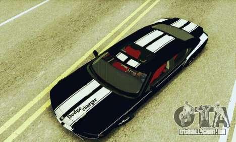 Dodge Charger DUB para vista lateral GTA San Andreas