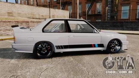 BMW M3 1990 Race version para GTA 4 esquerda vista