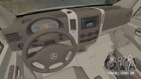 Mercedes-Benz Sprinter 2500 2011 v1.4 para GTA 4 vista de volta