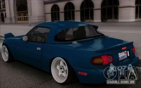Mazda Miata para vista lateral GTA San Andreas