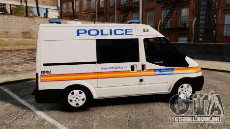Ford Transit 2013 Police [ELS] para GTA 4 esquerda vista