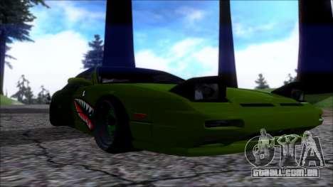 Nissan Onevia Shark para GTA San Andreas vista traseira