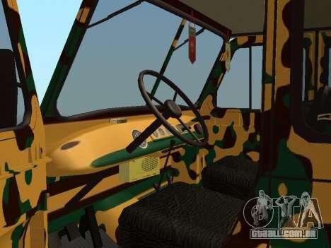 UAZ 469 Camo para GTA San Andreas vista traseira