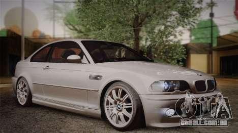 BMW E46 M3 Coupe para GTA San Andreas vista direita