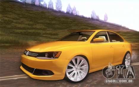 Volkswagen Vento 2012 para GTA San Andreas vista traseira