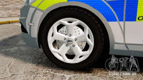 Ford Focus Estate Norfolk Constabulary [ELS] para GTA 4 vista de volta