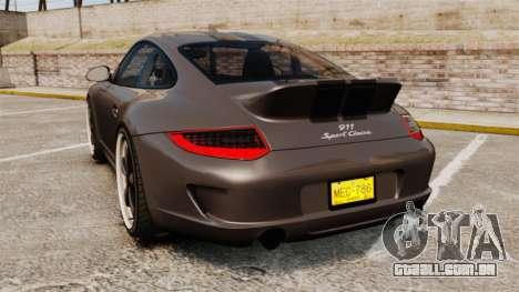 Porsche 911 Sport Classic 2010 para GTA 4 traseira esquerda vista