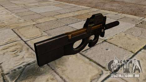 Pistola-metralhadora P90 para GTA 4 segundo screenshot