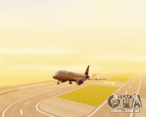 Sukhoi Superjet 100-95 Aeroflot para GTA San Andreas vista traseira