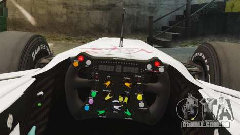 Brawn BGP 001 2009 para GTA 4 vista de volta