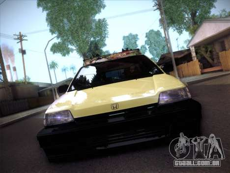 Honda Civic Si 1986 para GTA San Andreas vista traseira