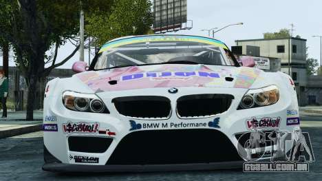 BMW Z4 GT3 2010 para GTA 4 vista inferior