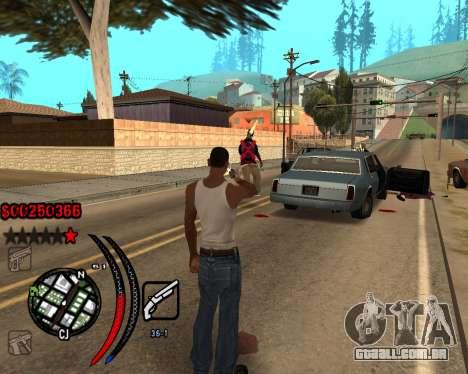 C-HUD Carbon para GTA San Andreas