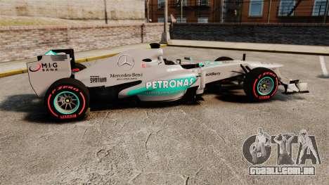 Mercedes AMG F1 W04 v6 para GTA 4 esquerda vista
