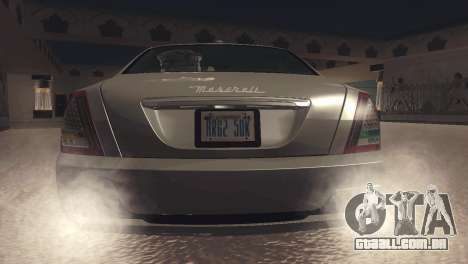 Maserati Quattroporte 2012 para GTA San Andreas vista direita