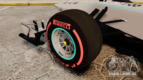 Mercedes AMG F1 W04 v6 para GTA 4 vista de volta