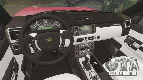 Range Rover TDV8 Vogue para GTA 4 vista interior