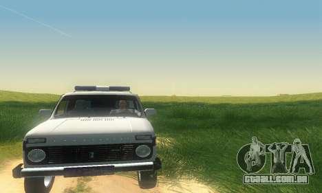 Lada Niva Patrola para GTA San Andreas esquerda vista